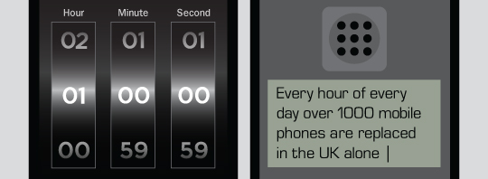 Every hour of every day over 1000 mobile phones are replaced in the UK.